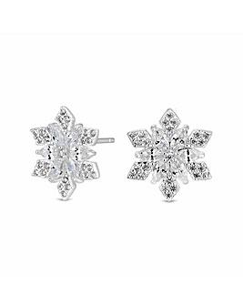Simply Silver Snowflake Earrings