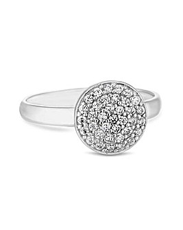 Simply Silver Round Pave Sized Ring