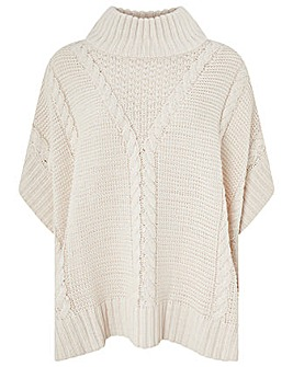 Monsoon Cassidy Cable Poncho