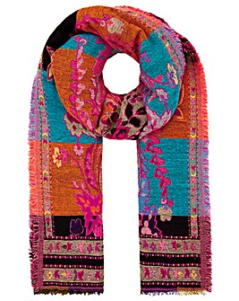 Monsoon Flic Floral Jacquard Scarf