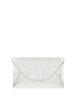 Monsoon Emily Envelope Leather Clutch