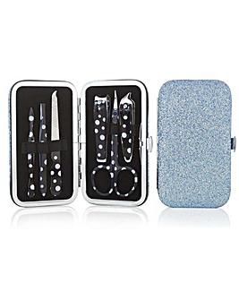 Mood Blue Glitter Manicure Set