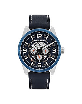 Gents Police Round Dial Strap Watch