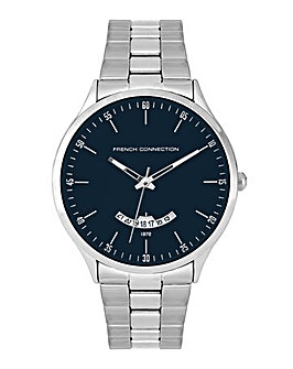 Mens French Connection Round Dial Bracelet Watch