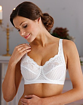 Miss Mary Jacquard and Lace Wired Bra