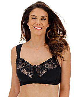 Miss Mary Lovely Lace Non Wired Black Bra