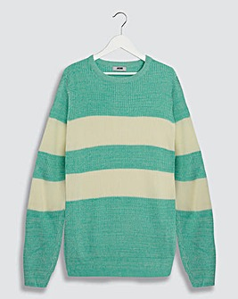 Amber Stripe Textured Knit Jumper Long