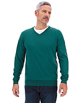 Teal V-Neck Jumper