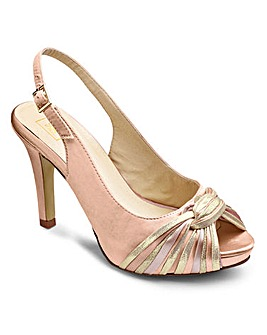 Sole Diva Peep Toe Slingback Extra Wide EEE Fit
