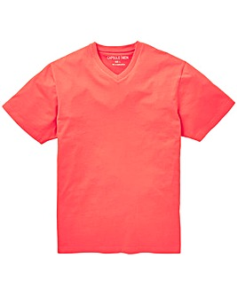 Capsule Coral V-Neck T-shirt Long