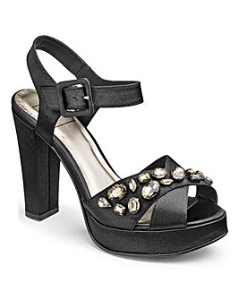 Sole Diva Jewelled Platforms E Fit