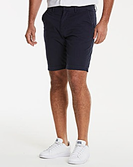 Navy Stretch Chino Shorts