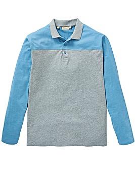 W&B Grey Long Sleeve Block Polo R