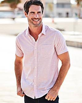 W&B Pink Short Sleeve Slub Check Shirt R