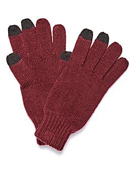 Voi Burgundy Touchscreen Gloves