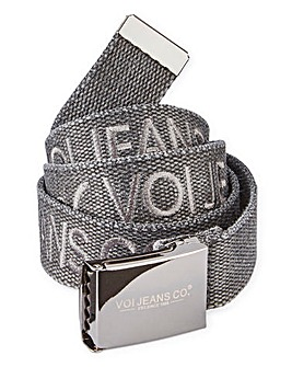 Voi Charcoal Webbing Belt