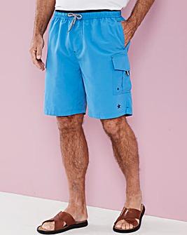 Azure Blue Long Swimshorts
