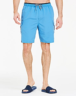Azure Blue Long Swimshorts