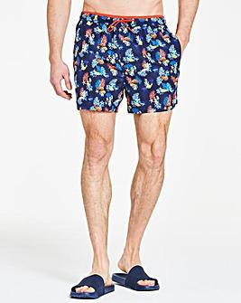 Navy Print Swimshorts