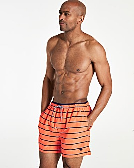 Coral Stripe Swimshorts