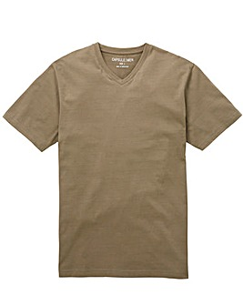 Capsule Khaki V-Neck T-shirt Long