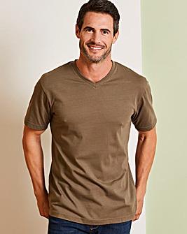 Capsule Khaki V-Neck T-shirt R