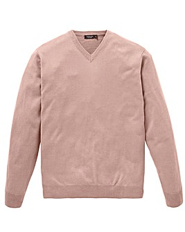 Capsule Dusky Pink V-Neck Jumper Regular