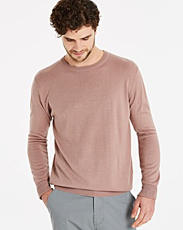 Capsule Dusky Pink Crew Neck Jumper Regular