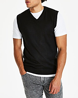 Black V-Neck Slipover