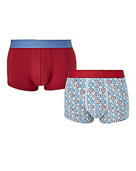 Original Penguin Pack of 2 Print Hipster