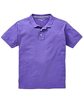 Capsule Purple Short Sleeve Polo L