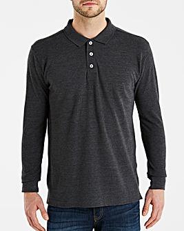 Charcoal Long Sleeve Polo Long