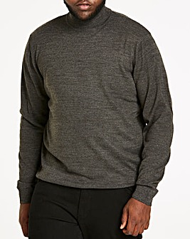 Charcoal Roll Neck Jumper