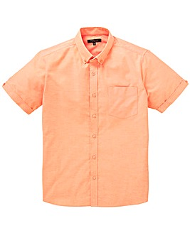 Peach S/S Oxford Shirt L