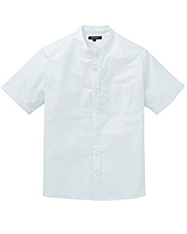 Capsule White S/S Grandad Oxford Shirt L