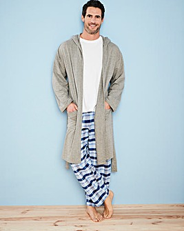 Capsule Grey Hooded Dressing Gown