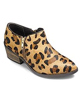 Sole Diva Zip Shoe Boots Wide E Fit