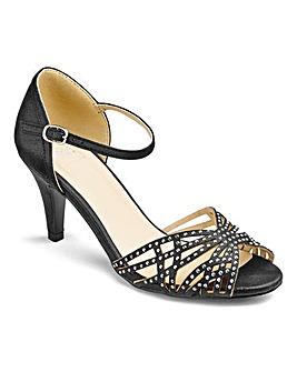 Sole Diva Diamante Sandals Extra Wide EEE Fit