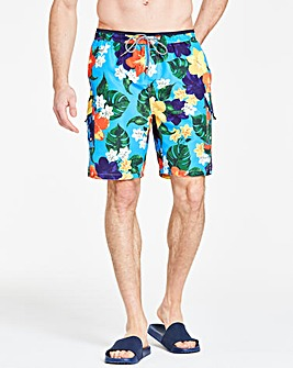 Floral Cargo Swimshorts