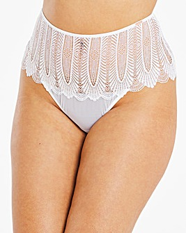 Figleaves Curve Angel Lace White Brief