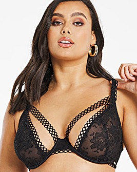 Figleaves Curve Lust High Apex Black Bra