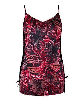 Figleaves Curve Tie Side Chain Print Chemise with bag
