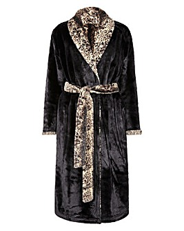 Figleaves Curve Reversible Luxury Faux Fur Robe
