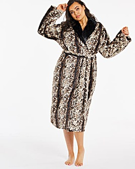 Figleaves Curve Reversible Faux Fur Robe