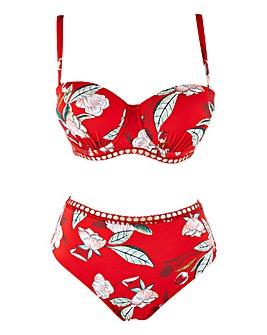 Figleaves Curve Miami Red Floral Bikini Brief