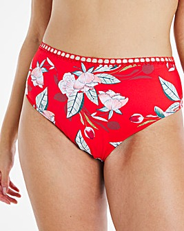 Figleaves Curve Miami Red Floral Bikini Brief