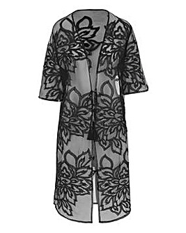 Figleaves Curve Embroidered Mauritius Beach Coverup