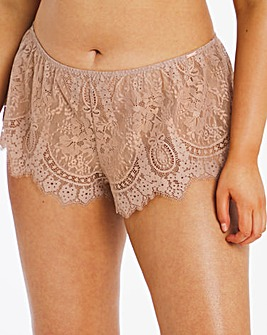 Figleaves Curve Adore Mink Lace French Knickers