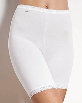 Sloggi Basic Long Leg White Briefs