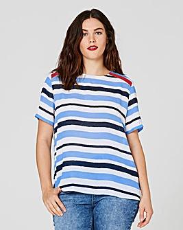 Stripe Shell Top